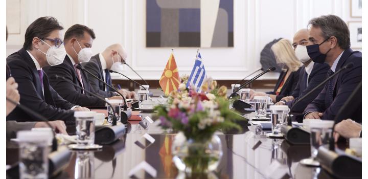 Κυρ. Μητσοτάκης: Η υποστήριξη της Αθήνας στην ευρωπαϊκή ενταξιακή πορεία της Βόρειας Μακεδονίας συναρτάται απολύτως με την πλήρη εφαρμογή της Συμφωνίας των Πρεσπών